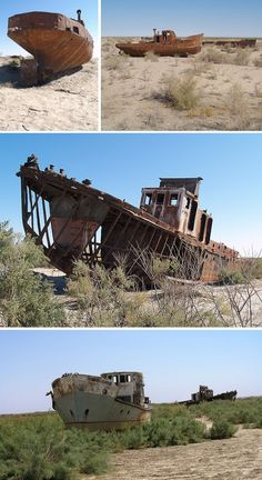 ship boat graveyard aral sea Ship Graveyards: Abandoned Ships, Boats and Shipyards