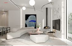 Dramatic Marble Accents in 3 Modern Homes by Shexia Space Design - #modernhomes - Find fresh and inspiring ways to use marble and faux marble within the home. This post showcases three interior design concepts that use creative marble accents.... Modern Chinese Interior, Home Modern, Modern Interior Design, Modern Homes, Modern Family, Modern Moroccan, Luxury Interior, Home Design, Marble Interior