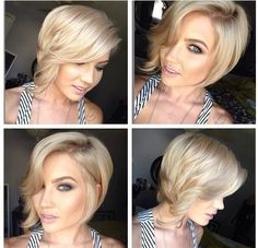 Summer Hair looks: 2014 Short Hairstyles Trends blonde short bob with casual waves. if I ever did cut my hair short. Love Hair, Great Hair, Gorgeous Hair, Summer Hairstyles, Pretty Hairstyles, Bob Hairstyles, Blonde Haircuts, Black Hairstyles, Short Hair Cuts