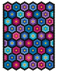 Who knew you could make such beautiful things with a simple hexagon? Laura does great work, and this is done in the hoop. Check out the other designs made with the hexagon on her page. I need to do this!