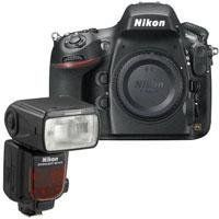 """Nikon D800E Digital SLR Camera Body with Optical Low Pass Filter (OLPF) - Bundle - with Nikon SB-910 TTL AF Shoe Mount Speedlight, USA Warranty by Nikon. $3596.95. The Nikon D800 is a 36.3MP professional HDSLR that breaks new ground in resolution and metering technology. More than an upgrade to the just-discontinued 12MP D700, the D800 is a major overhaul. Unlike the D700, which was positioned as a """"prosumer"""" camera, the Nikon D800 is definitely geared towards pro users e..."""