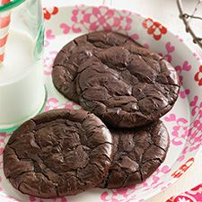 KAF flourless fudge cookies. They taste like brownies. So fudgy, gooey, and dense, even if you forget to put them away overnight.
