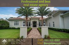 Do you need a Real Estate Agency West Palm Beach? We are a leading real estate firm in Florida who provides a wide range of services to buyers and sellers after evaluating their requirements properly. For more info Call: (561) 632-8960