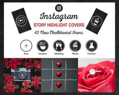 Chalkboard-Highlights-2 Instagram Tips, Follow Me On Instagram, Instagram Fashion, Instagram Story, Instagram Settings, Wedding Plants, Business Thank You Cards, Cover Template, Story Highlights