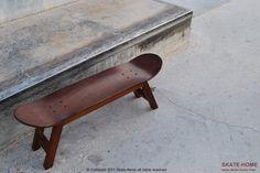 skate deck bench   do it, yourself / diy