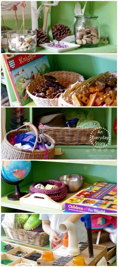 A peek inside a child-led homeschool room. This is a homeschool room for a kindergartener inspired by the Reggio Emilia Approach (from An Everyday Story)