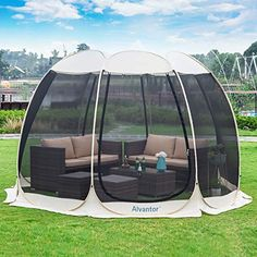 Alvantor Screen House Room Camping Tent Outdoor Canopy Dining Gazebo Pop Up Sun Shade Shelter Mesh Walls Not Waterproof Patent Screened Canopy, Pop Up Canopy Tent, Canopy Outdoor, Outdoor Decor, Outdoor Screens, Outdoor Shade, Outdoor Stuff, Outdoor Areas, Outdoor Living