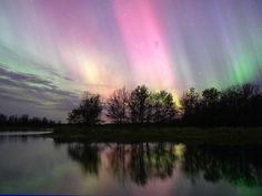 Aurora Over Wisconsin.. this is a good way to study for my earth science exam, right?