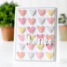 Color Coordinates: Sugar and Spice Thank U Cards, Love Cards, Diy Cards, Valentine Day Cards, Valentines, Simon Says Stamp Blog, Scrapbook Cards, Scrapbooking, Heart Cards