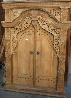 antique Balinese door & Large Recycled Teak Hand Carved Balinese Doors Whitewash ... Pezcame.Com