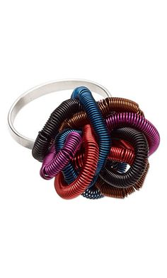 Ring with Wire Coils - Fire Mountain Gems and Beads