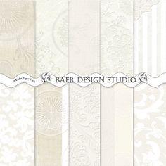 Rustic WHITE BURLAP Digital PAPER Emboss by BaerDesignStudio, $5.00