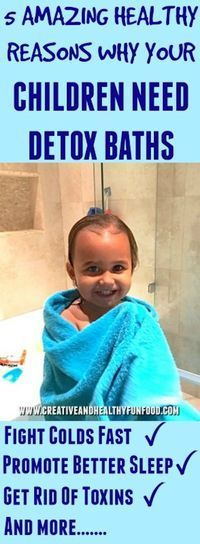 5 Amazing Healthy Reasons Why Your Children Need Detox Baths. Strong immune system for kids! #magnesium #epsomsalts #detoxbaths #health