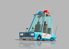 Police car, Alexandr Krainuk on ArtStation at https://www.artstation.com/artwork/W9Bv2