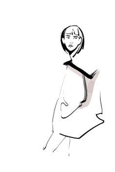 Fashion illustration by Katerina Murysina. Stella McCartney FW14.