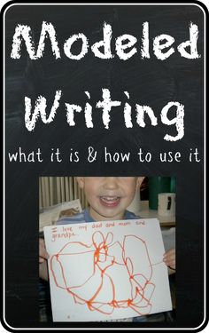Modeled Writing -- what it is and how to use it when teaching writing in preschool and other early childhood settings.  Includes an excerpt from a short modeled writing lesson.
