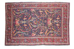 TABRIZ (Perse), 1er tiers du 20e siècle  Des branchages fleuris muliticolores…