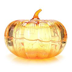 """457-953 - Marquis by Waterford 7.75"""" Wedge Cut & Scalloped Edge Covered Pumpkin"""