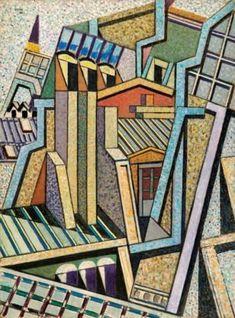 Νικος Χατζηκυριάκος Γκικας, Στέγες του Παρισιού Greek Art, Cubism, Abstract Art, Paris, Quilts, Drawings, Artwork, Inspiration, Painting