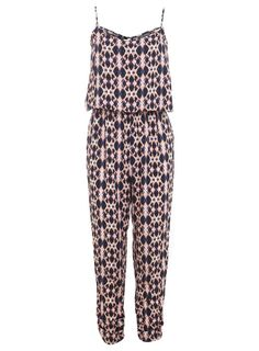 Pin for Later: Jump Into Summer in a Printed Jumpsuit Miss Selfridge Aztec-Print Jumpsuit Miss Selfridge '90s Aztec Jumpsuit (£39)