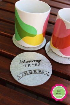 Hot beverage to be placed here by CutOutsProductDesign on Etsy Barware, Coasters, Beverages, Handmade Gifts, Hot, Places, Etsy, Kid Craft Gifts, Drinks
