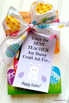 Peeps easter gift idea with free printables pinterest free teacher appreciation for easter the best teacher any bunny could ask for negle Gallery