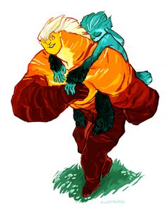 I imagine during daylight hours Sohone would have to carry a sleepy Mune. Don't think it's possible to do the same for the big sun kitty tho -- Mune : Guardian of the Moon - Sohone and Mune Ninja Turtles Art, Teenage Mutant Ninja Turtles, Cartoon Ships, Cartoon Art, Guardian Of The Moon, Old Cartoon Network, Nickelodeon, Rise Of The Guardians, Old Cartoons