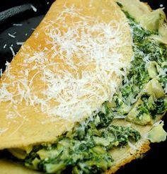 Spinach and Artichoke Crepes