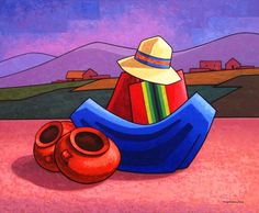 Biografía:  Oscar Tintaya Quispe La Paz Bolivia 1962.  1987-Egresado de la Academia Nacional de Bellas Artes,La Paz  Especialidad:Pint... Mexican Paintings, Peruvian Art, Mexico Art, Spanish Art, Southwest Art, Korean Art, Indigenous Art, Native American Art, Pictures To Paint