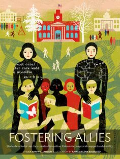 """This great illustration, """"Fostering Allies"""" was featured in the Summer 2013 issue of Teaching Tolerance magazine and is an Illustration, Graphics, and Photography finalist in the Adult division."""