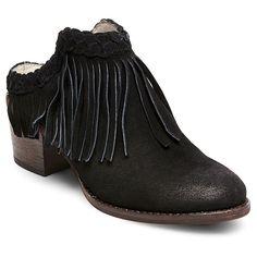 Women's Soho Cobbler Chrysnth Braided Fringe Leather Mules -