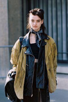 Vanessa Jackman: Paris Fashion Week AW 2015....Baylee and Kelsey