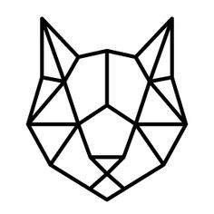 Discover recipes, home ideas, style inspiration and other ideas to try. Cool Art Drawings, Pencil Art Drawings, Animal Drawings, Easy Drawings, Cat Drawing, Geometric Cat, Geometric Drawing, Geometric Designs, Geometric Shapes