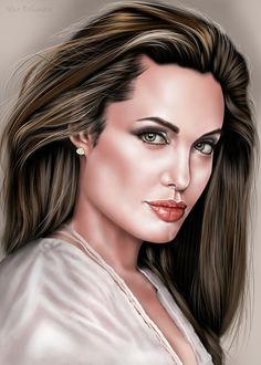 Painting Angelina jolie