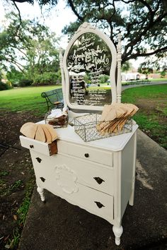 Rental from @Melissa Squires Spivak. Vintage in NOLA and announcement in chalk on the mirror