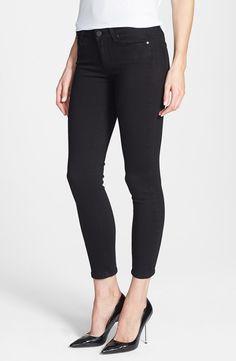 crop skinny jeans & heels