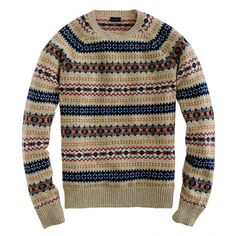 LOVE this! Someone buy me this please! Lambswool Inverness Fair Isle sweater from JCrew.