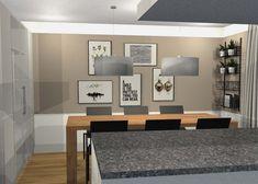 Vorschlag Essbereich 3D-visualisiert Modern, Gallery Wall, 3d, Frame, Home Decor, Environment, Oak Tree, Living Room, Homes