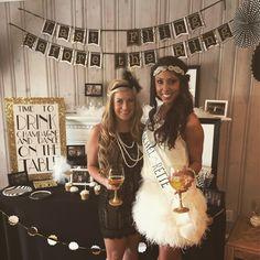 a gatsby bride and bridesmaid #bachelorette
