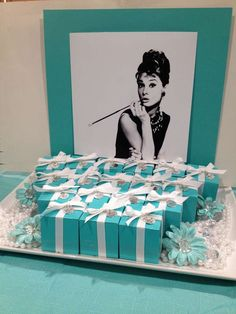 Photo 1 of 22 Breakfast at Tiffanys Birthday Debbies Birthday Brunch Catch My Party Tiffany Party, Tiffany E Co, Tiffany Birthday Party, Tiffany Theme, Tiffany Wedding, Birthday Brunch, 60th Birthday, Birthday Parties, Birthday Ideas