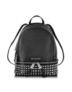 Rhea Zip Small Studded Leather Backpack Michael Kors sur FORZIERI