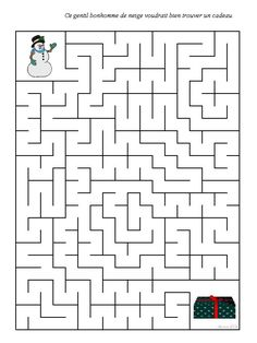labyrinthe noel Christmas Crafts For Kids, Christmas Activities, Hard Mazes, Mazes For Kids Printable, Maternelle Grande Section, Christmas Tree Pictures, Maze Puzzles, Paper Roll Crafts, Theme Noel