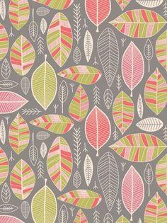 .. Motifs Textiles, Textile Patterns, Textile Design, Fabric Design, Pretty Patterns, Color Patterns, Leaf Patterns, Surface Pattern Design, Pattern Art