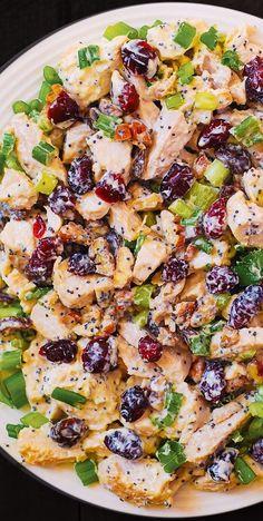 Pecan Chicken Salads, Chicken Salad Recipes, Cranberry Chicken, Salad Chicken, Summer Salad Recipes, Poppyseed Chicken Salad Recipe, Healthy Chicken, Chicken Salad With Fruit Recipe, Health Salad Recipes
