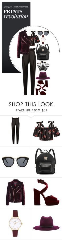 """""""Untitled #363"""" by zoeleoy ❤ liked on Polyvore featuring Gabriela Hearst, Rebecca Taylor, Le Specs, Versace, Etro, Yves Saint Laurent, Olivia Burton, rag & bone, Leather and floralprint"""