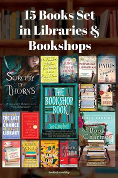 The ultimate list of book club novels about the power of reading set in libraries and bookshops – perfect for a group of book lovers! #books #bookclub #bookclubbooks