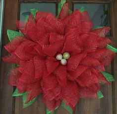 Guirnalda de Poinsettia rojo