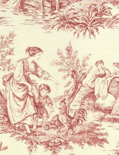 Provence Toile de Jouy by fabricsandpapers.com