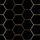 GOLD and black hex tile hexagon tile custom wallpaper by mlags for sale on Spoonflower Hexagon Tile Bathroom, Black Hexagon Tile, Honeycomb Tile, Hex Tile, Black Tiles, Hexagon Tiles, Gold And Black Wallpaper, Metallic Wallpaper, Hexagon Wallpaper