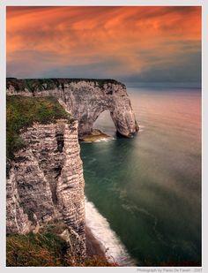 Cliffs at Etretat, Normandy, France